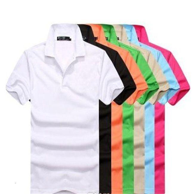 T-Shirt Polo 2019 Designer Spring Shirts Tee High Street Embroidery big horse crocodile Printing Clothing Mens Polo Sh