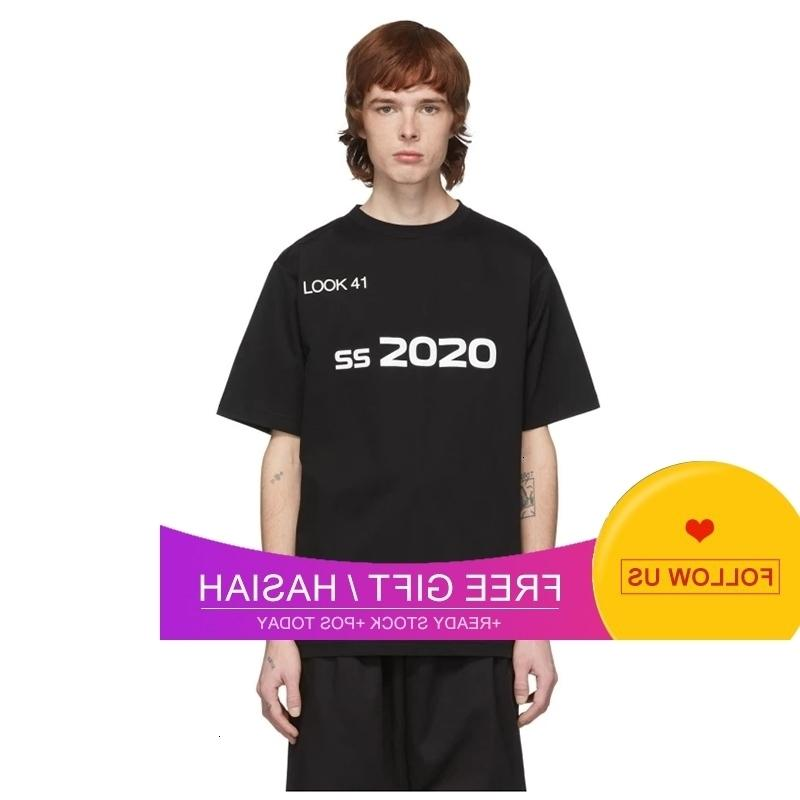 Outlet Alexander Zhou Siyah T-shirt Siyah Ve Beyaz Kısa Kollu Pamuk Yuvarlak Boyun T-Shirt Göğüs Baskı
