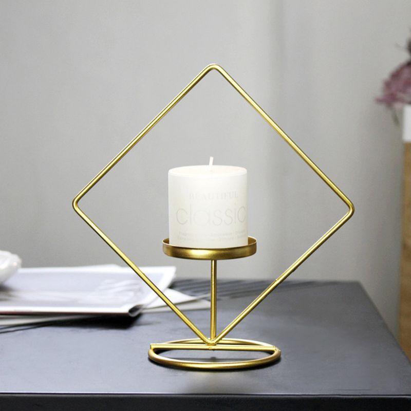Держатели свечи Nordic Style Metal железо геометрический подсвечник держатель дома украшения дома ужин