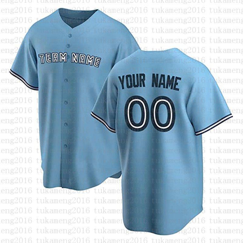 مخصص تورنتو الجدة زر أسفل البيسبول الفانيلة مراوح شخصية قميص للرجال تيماني الاسم والعدد للحصول على هدية مخيط الأزرق