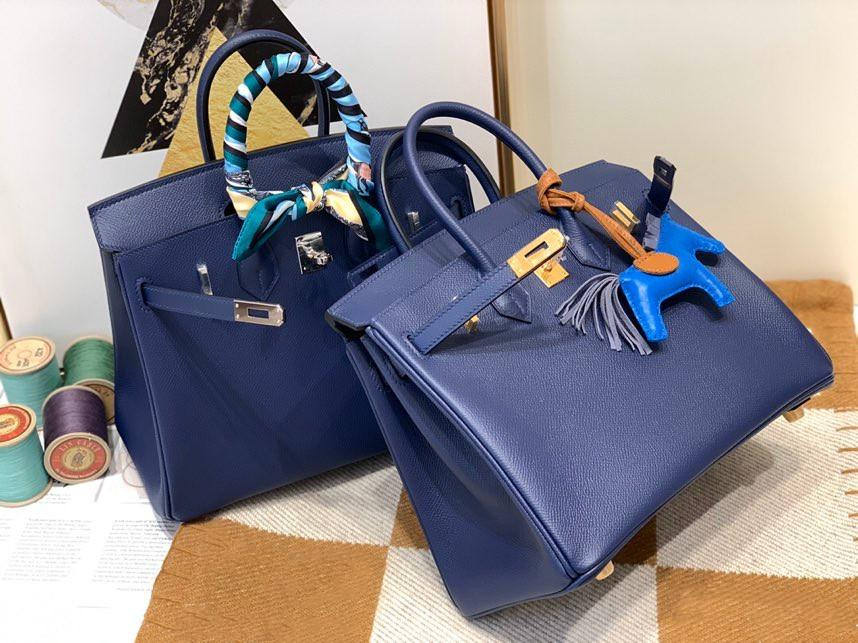 Toptan yarım el yapımı kalite, epsom deri, derin mavi renk, tasarımcılar purse25cm, balmumu dikiş, altın ve gümüş donanım, hızlı teslimat