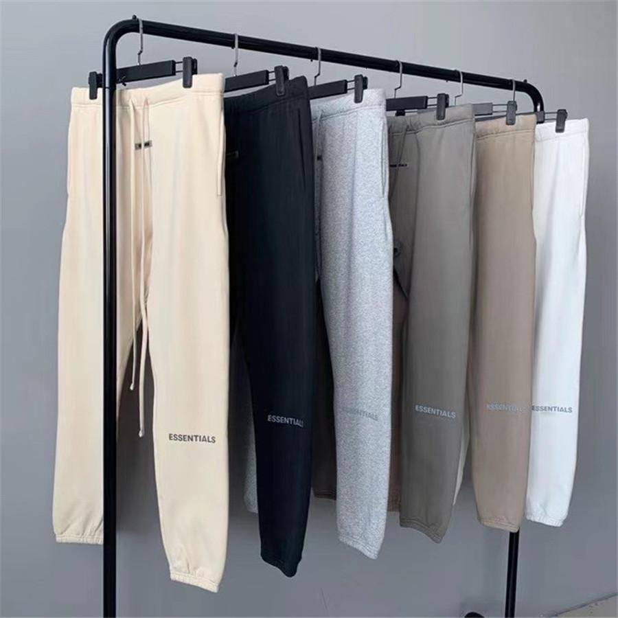 2021 New Reflection Letter Fog Essentials Sweatpants 1:1 Best-quality Heavy Fabric Casual Joggers Trousers Pants Men Clothing 44ap