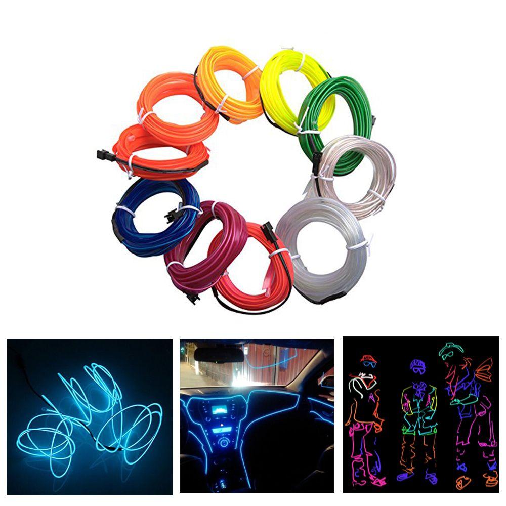 EL Wire light Car 1M2M3M5M Neon String Lights Dance Party Decor Neon Light LED lamp Flexible Waterproof Led Light Strip