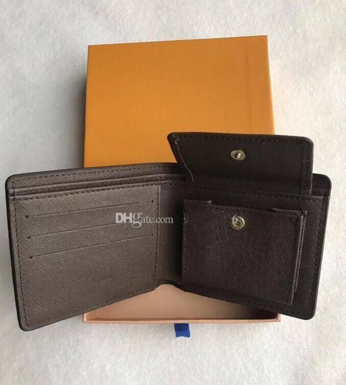 2020 Portafoglio da uomo in pelle da uomo in pelle da uomo con portafoglio con scatola, manuale per sacchetti di polvere telaio Una varietà di stili