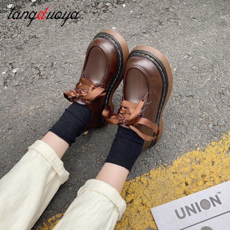 Обувь платье платформы женские колледжи девушки студент лолита JK Uned unkle-ремешок Мэри Джейн Хараджуку винтаж