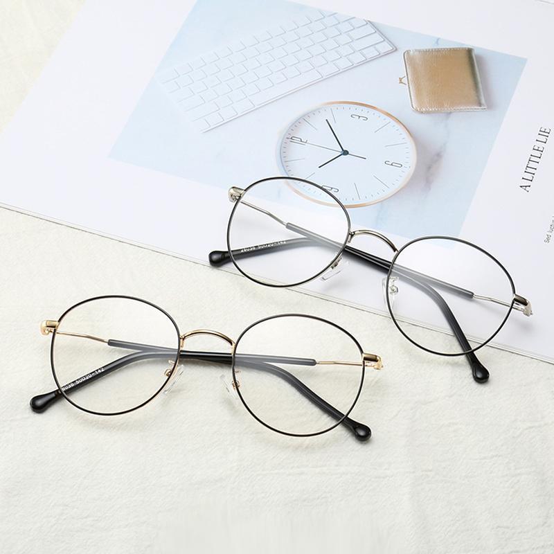 Солнцезащитные очки синий свет блокировки очков ретро компьютерная игра круглые очки металлические рамки унисекс л
