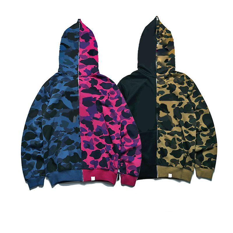 Sweatshirts Femmes Mode Sweats à Sweats Camouflage Streetwear Streetwear Hip Hop Letter Modèle Modèle d'impression Hommes à capuche Vêtements