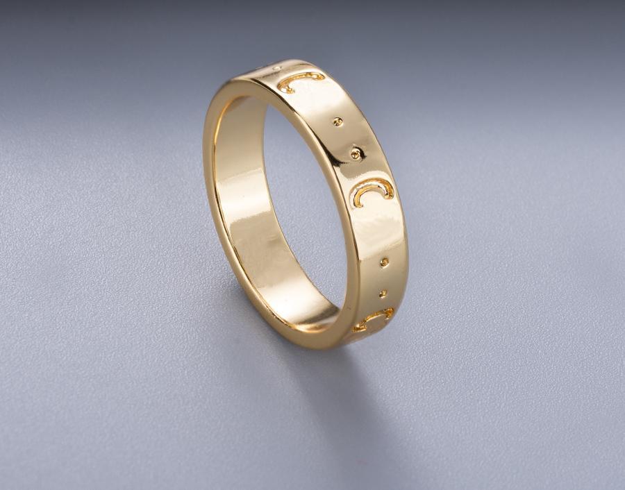 Stempel paar Ring Persönlichkeit Gold versilbert für Herren und Frauen Engagement Hochzeit Schmuck Liebhabergeschenk