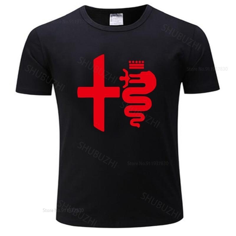 Hot Hommes Marque T-shirt Summer Tshirt Coton Summer Casual F1 Car coiffant Alfa Romeo Homme Tee-shirt Euro Taille Euro