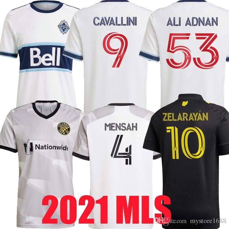 2021 2022 Columbus Vancouver Whitecaps Jerseys de futebol Zardes Mensah Nagbe Santos Zelayan MLS MENS Futebol Camisas 20 21 Uniformes de Cavallini