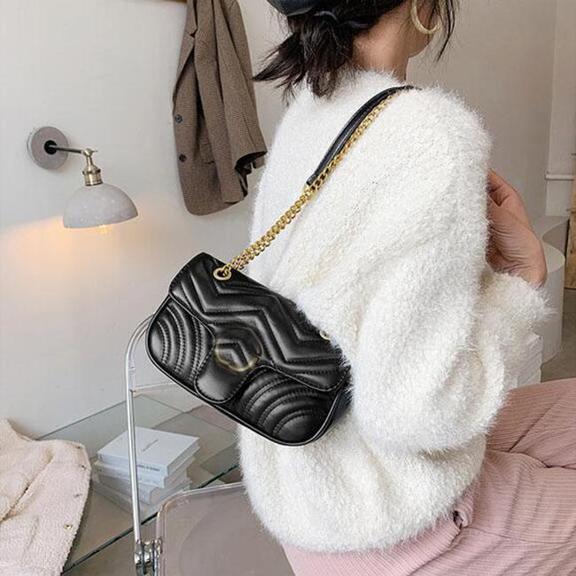 New fashion luxury womens bag versatile lattice chain bag Cross Body shoulder boutique