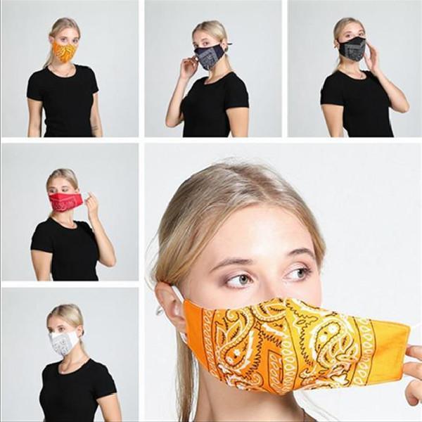 5 스타일 꽃 인쇄 마스크 맞춤형 패션 방진 통기성면 마스크 씻어 야외 부드러운 보호 마스크