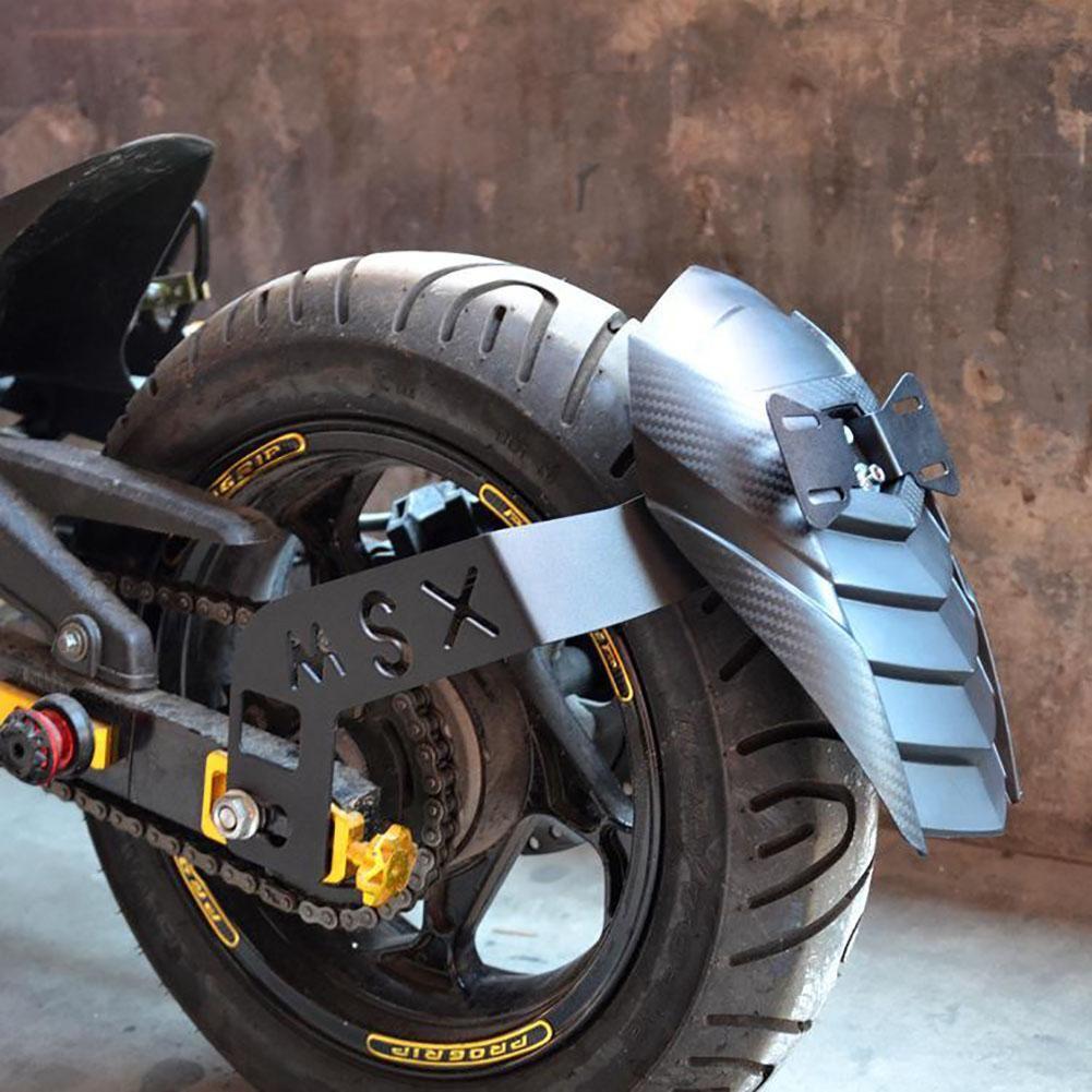 Motocicleta Durable Resistente al desgaste Trasero Splash Guard Mudguard Fender Modificar piezas Accesorios exteriores del motor para H-ONDA MSX125 / SF