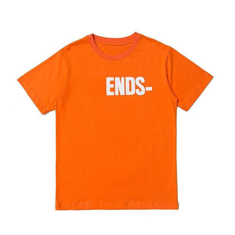 2021 Мужские Оранжевые Цвет Друзья Футболка Мужчины Женщины Высокое Качество Хип-хоп Оранжевая футболка Мужская Стилист Футболка Тис размер S-XL