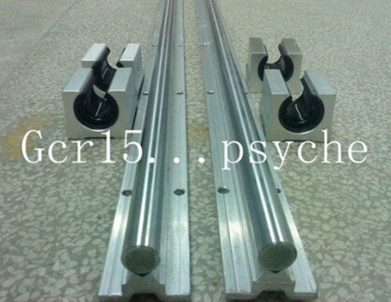 2X SBR10-600mm 10mm FULLY SUPPORTED LINEAR RAIL SHAFT ROD+4 SBR10UU BEARING