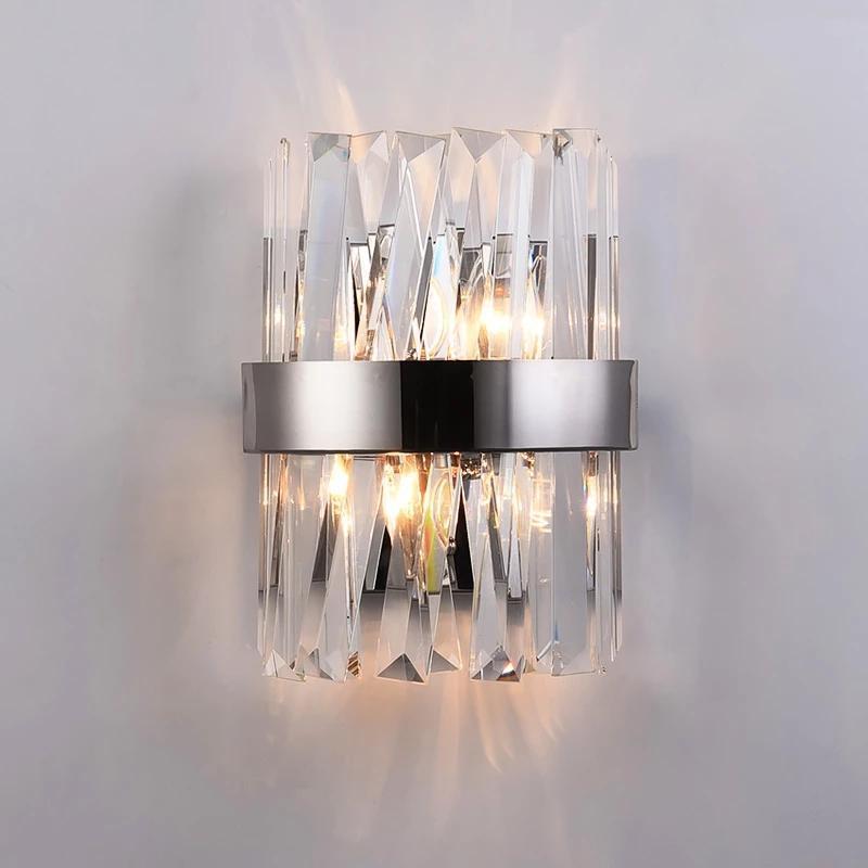 Yeni Modern Kristal Duvar Lambası Aplik Ev Dekorasyonu Için LED Kapalı Işık Armatürleri Yatak Odası Banyo Koridor Ayna