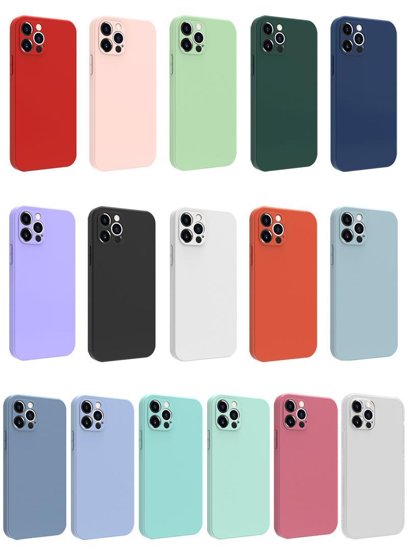Ultra Slim Soft TPU iPhone 12 11 Pro Mini Mini XR XS x 8 7 6 Plus에 대 한 무광택 휴대 전화 케이스
