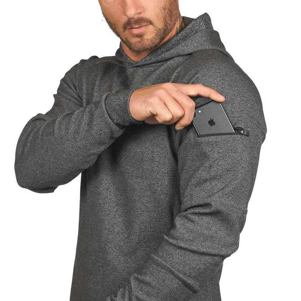 2021 Sudaderas con capucha para hombre Sudaderas European American Sports Suéter con capucha Capacitación de manga larga Abrigo de manga larga Paquete de bolso de OPP