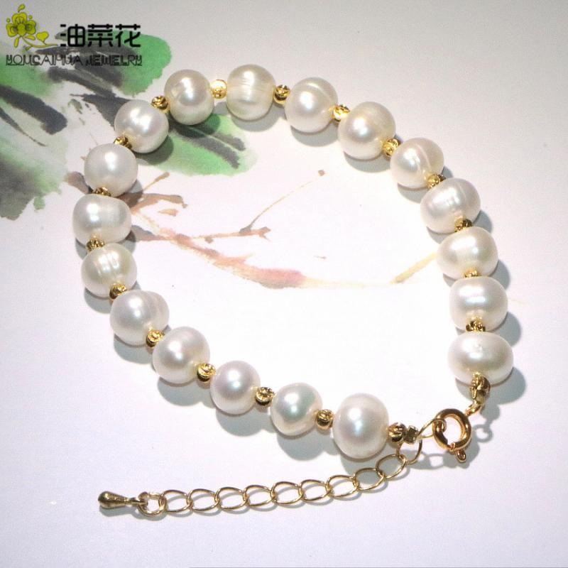 Moda Alta Qualidade Natural Pérola Pulseira Beads Acessórios Mulheres Meninas Banquete Yoga Presentes De Casamento De Natal Preços Atacado