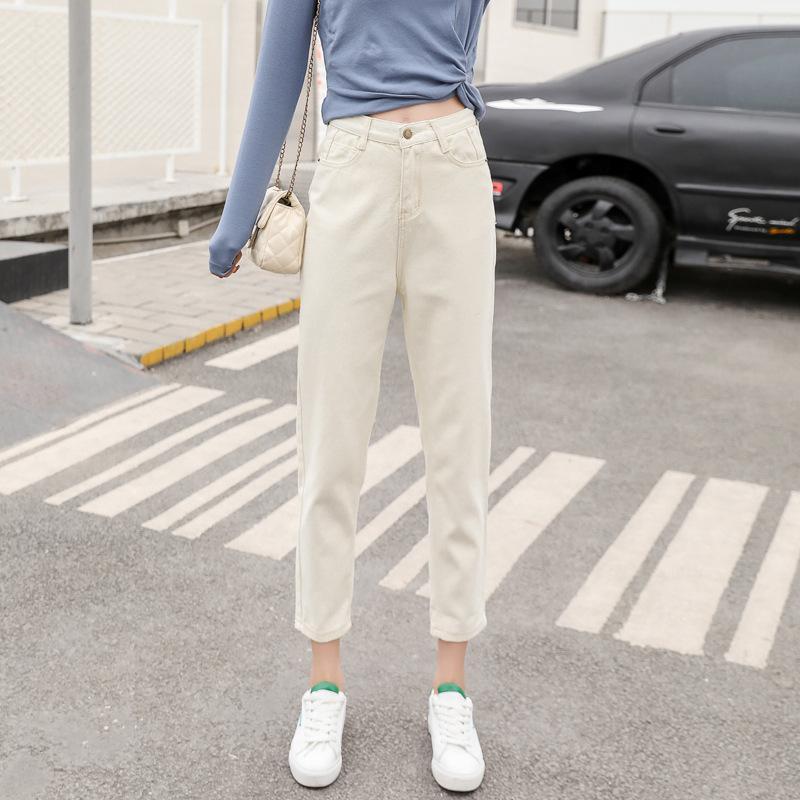 Kot kadın Sonbahar ve Kış 2021 Harlan Baggy Baba Pantolon Kore Yüksek Bel Ince Dokuz Noktası Turp Pantolon