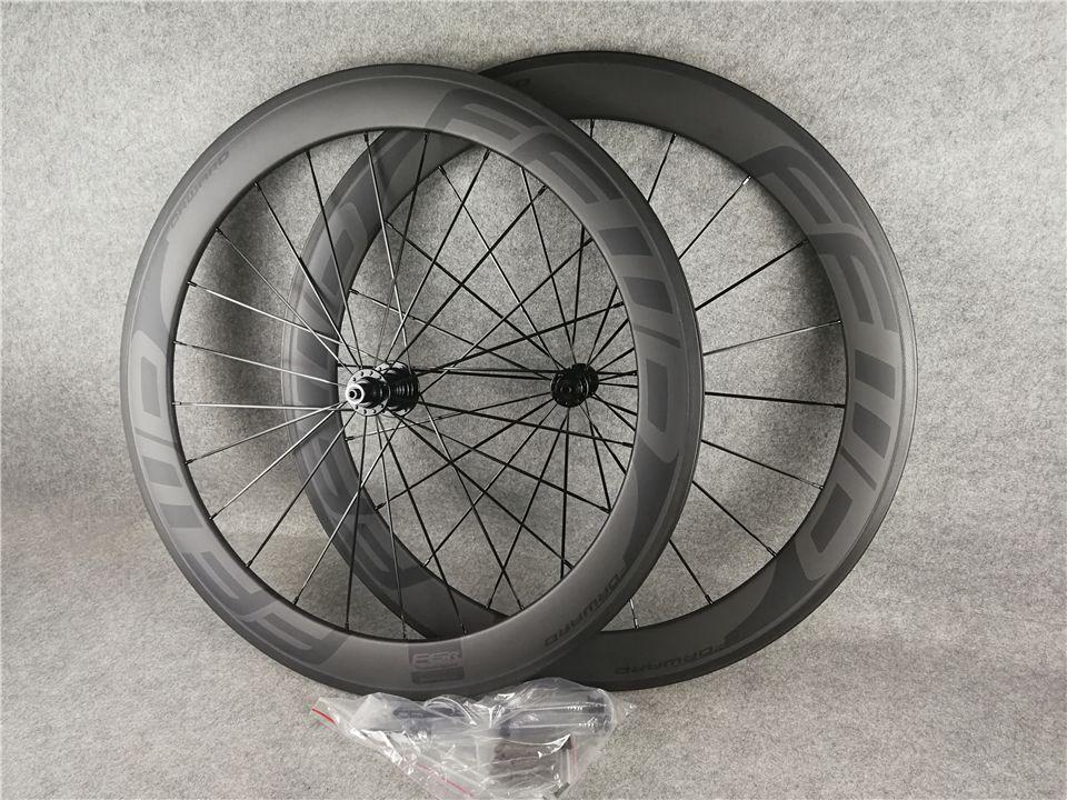Bob Black on Black F6R 700C UD 매트 60mm FFWD 탄소 도로 자전거 바퀴 23mm 너비 블랙 R13 세라믹 허브 11 속도