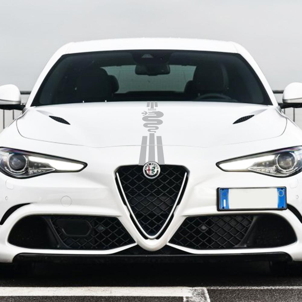 Alfa Romeo 159 147 GT Giulietta Stelvio 4C Mito 156 Giulia Sportiva 자동차 액세서리 자동차 후드 스티커 자동 보닛 데칼