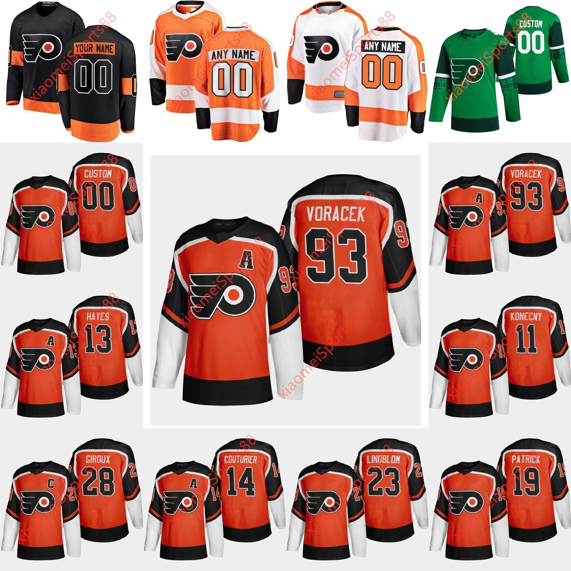 Philadelphia Flyers 2021 Retro Retro Hockey Jerseys Robert Hagg Jersey Brian Elliott Michal Neuvirth Samuel Morin Corban Knight Custom
