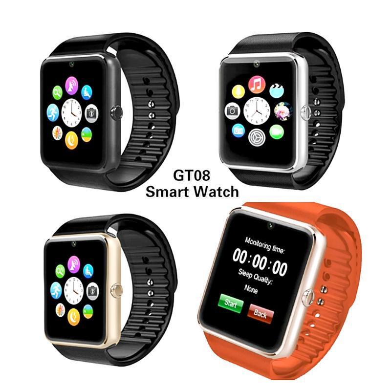 Bestseller Smart Watch MGT08 Clock Supporto per sincronizzazione Sync Notifier SIM Scheda Connettività Bluetooth per Android Apple Kids SmartWatch Reloj Inteligent