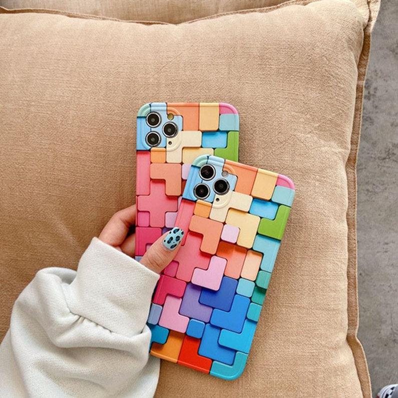 Heißer verkaufsfarbe vision box flüssighülle fallsichere silikonkasten für iphone 12 mini 11 pro max x s xs maximal c257