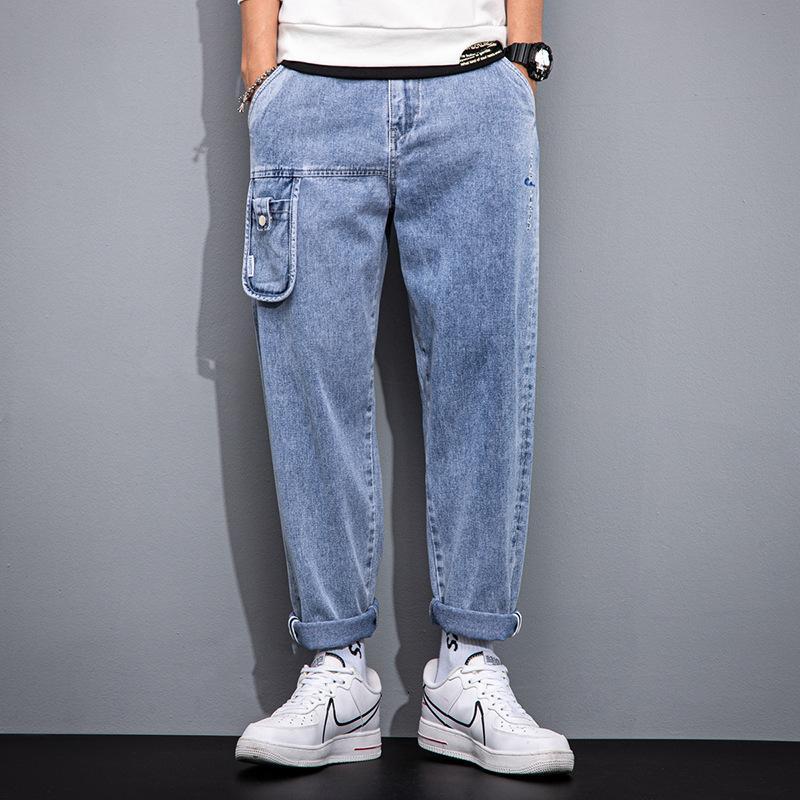 2021 primavera ed estate nuovi jeans larghi gamba larga sciolti di grandi dimensioni di grandi dimensioni pantaloni da papà da papà 9 punti