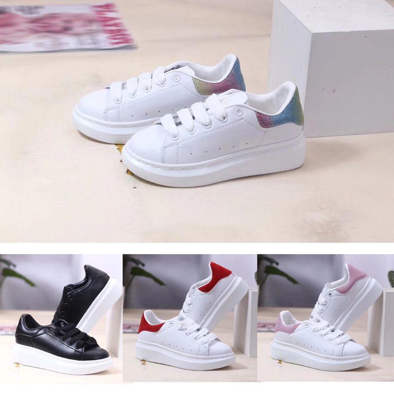 2021 Kesim Düşük Klasik Rahat Trainer Çocuk Erkek Kız Çocuklar Paten Sneaker Moda Spor Ayakkabı Size24-35