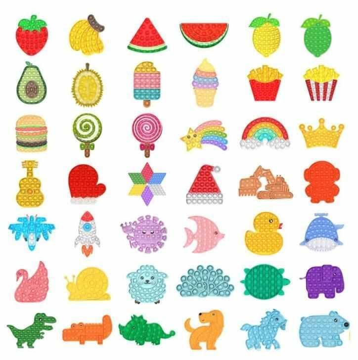 DHL Rainbow empurrão It Fidget Toy Sensory Push Bubble Fidget Sensory Autism Especial Necessidades de Ansiedade Stress Reversão para Office Fluorescen US Stock