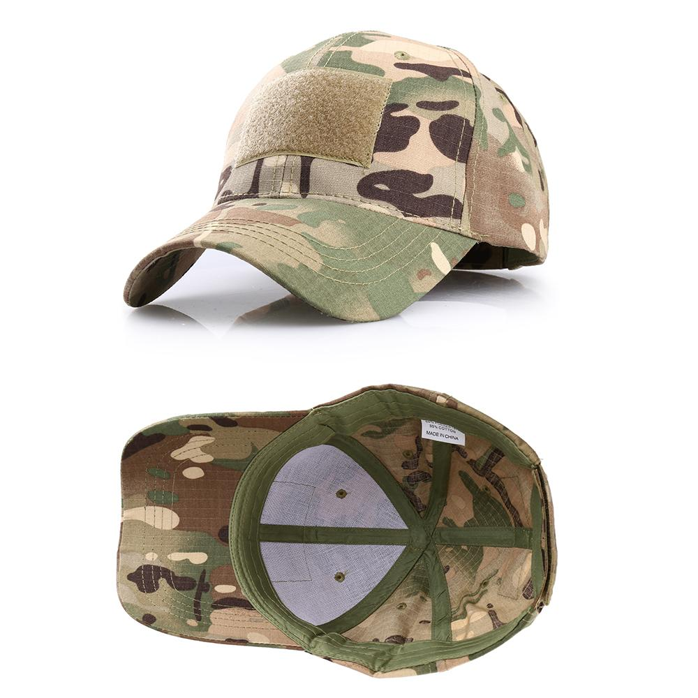 Fishing Hunting Outdoor Multicam Camouflage Adjustable Cap Mesh Tactical Army Airsoft Hiking Basketball Snapback Hat factory wholesale