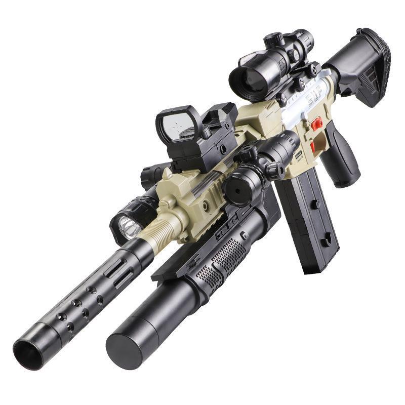 Armas de brinquedo crianças rifle cs jogos de tiro cofre e diversão ar15 kits modelo plástico