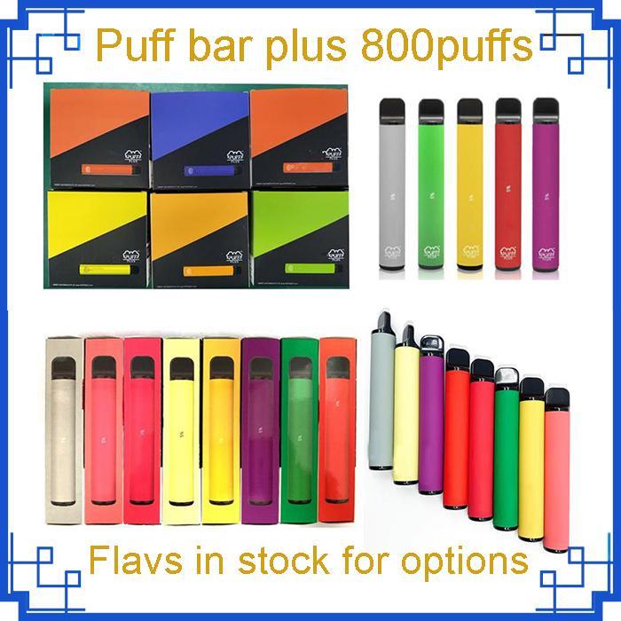 Puf Çubuğu Artı 40 Renk Tek Kullanımlık Sigara Cihazı 550 MAH Pil 800 + Puffs 3.2 ml Boş Pod Önceden Flled Pods Sopa Kiti VS Infinity Aokit Bang XXL Gunnpod Geek HCOW