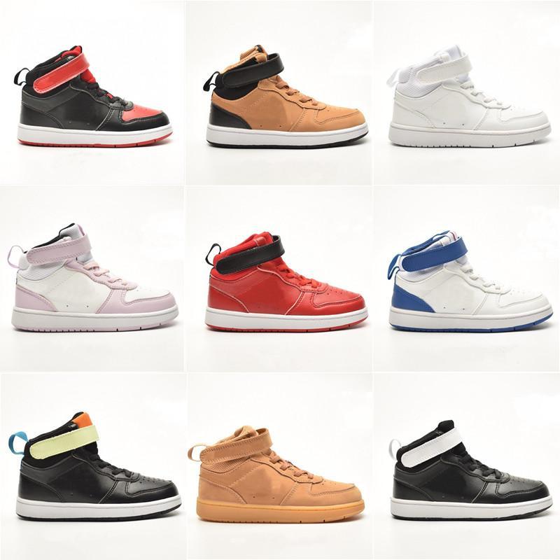 Yüksek Yardım Moda Platformu Ayakkabıları Erkek Kız Kaykay Koşu Ayakkabı Üçlü Siyah Beyaz Yardımcı Çocuk Eğitmenler Spor Sneakers Scarpe Chaussures