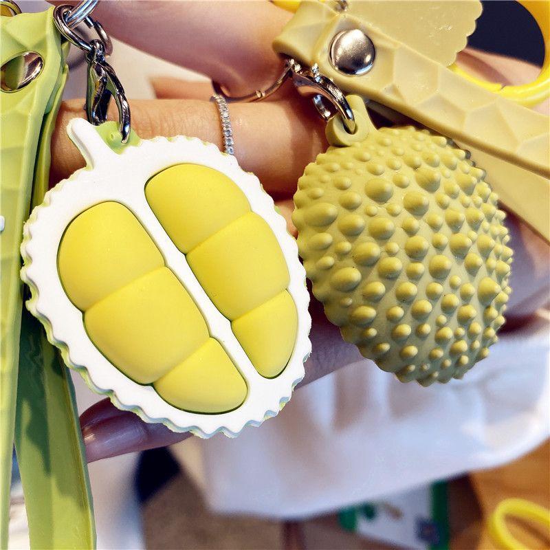 Wanghong masculino personalidade moda marca durian pequeno pingente bonito criativo carro chaveiro feminino