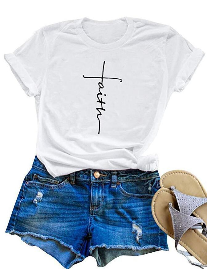 Women Summer Tshirt Designer New Arrival Printed Letter Short-sleeved T Shirt Crew Neck Tees Fashion Womens Concise Style Clothing