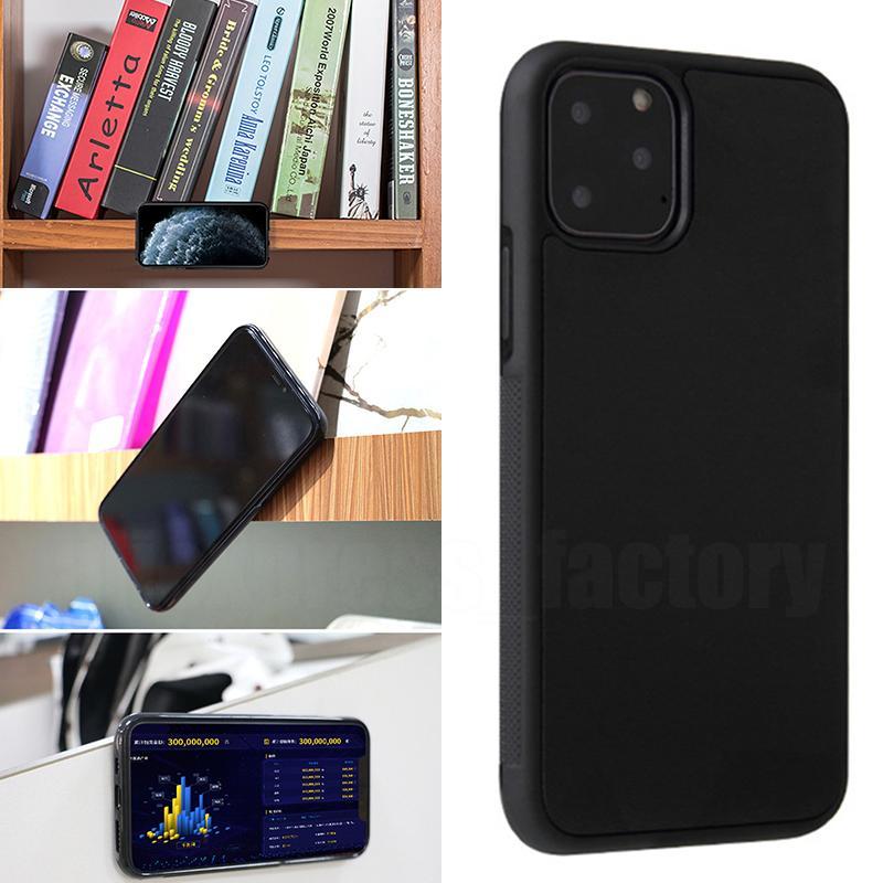 Anti Gravity Selfie Magical Nano Sticky Anti-Fall Adsorption Ssanie odporne na wstrząsy Plastic Cover Hard Case dla iPhone 13 Pro Max 12 Mini 11 XS XR X 8 7 6 6 SE