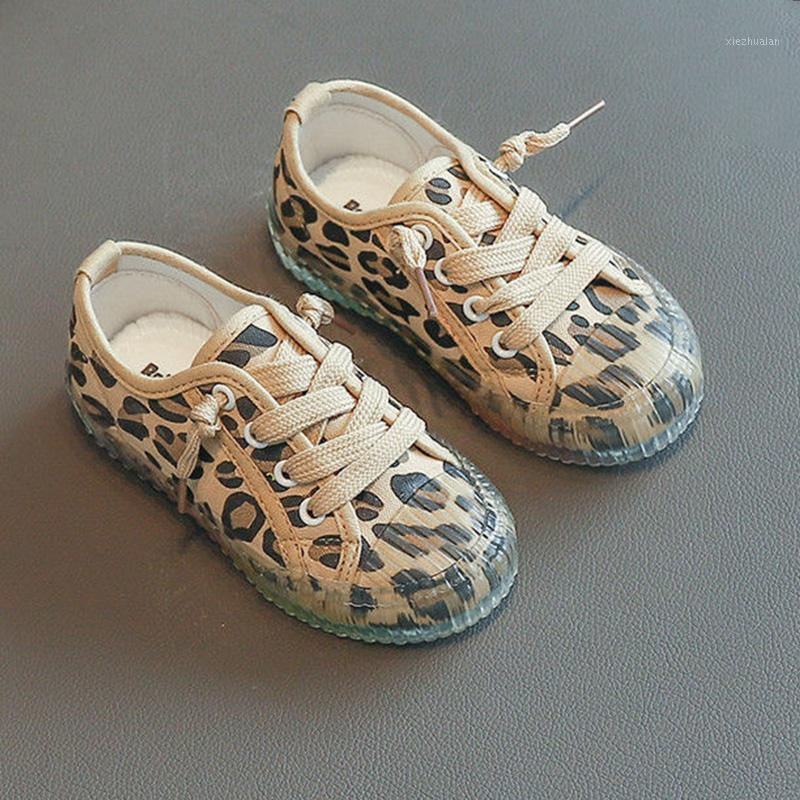 LeoPard Print Canvas кроссовки для детей спортивная обувь радужные подошвы кроссовки для детей мода удобная плоская желе обувь мальчиков девушек1