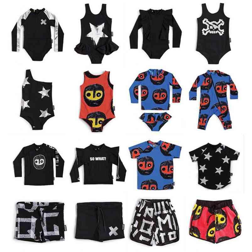 Toddler Girls Boys Swimming Suits Summer NX Brand Baby Hawaii Clothes Kids Swimwear Children Swimsuits Cute Girl Bikini 210727