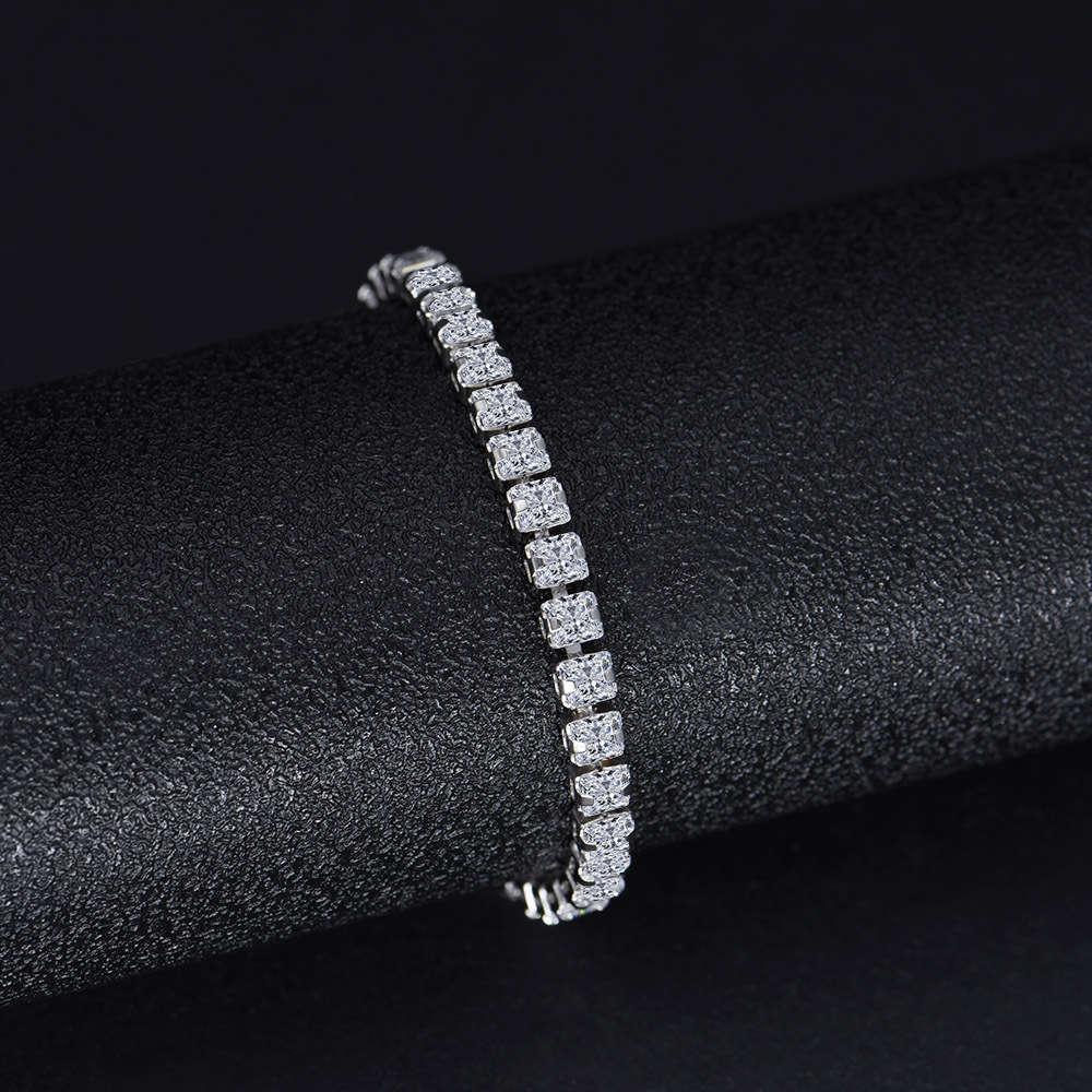 HBP Fashion Jewelry de lujo 2021 NUEVO Pulsera completa de alto carbono Simulación de NIS 3 * 3mm Cadena de diamantes de fila