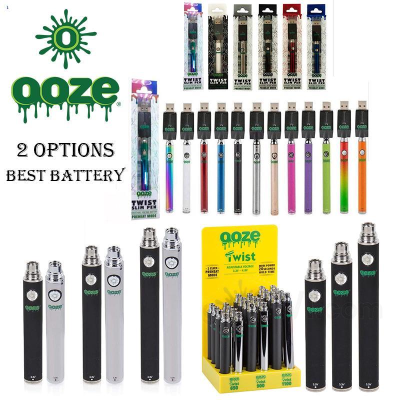 O0ZE Slim Twist Battery 320 MAH - Slim Pen Twist Battery + Smart USB VS Латунные костяшки Батареи вершины