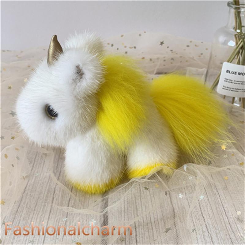Сумка Помпам настоящий подлинный шар меховой мех единорог очарование брелок кулон детский подарок игрушек
