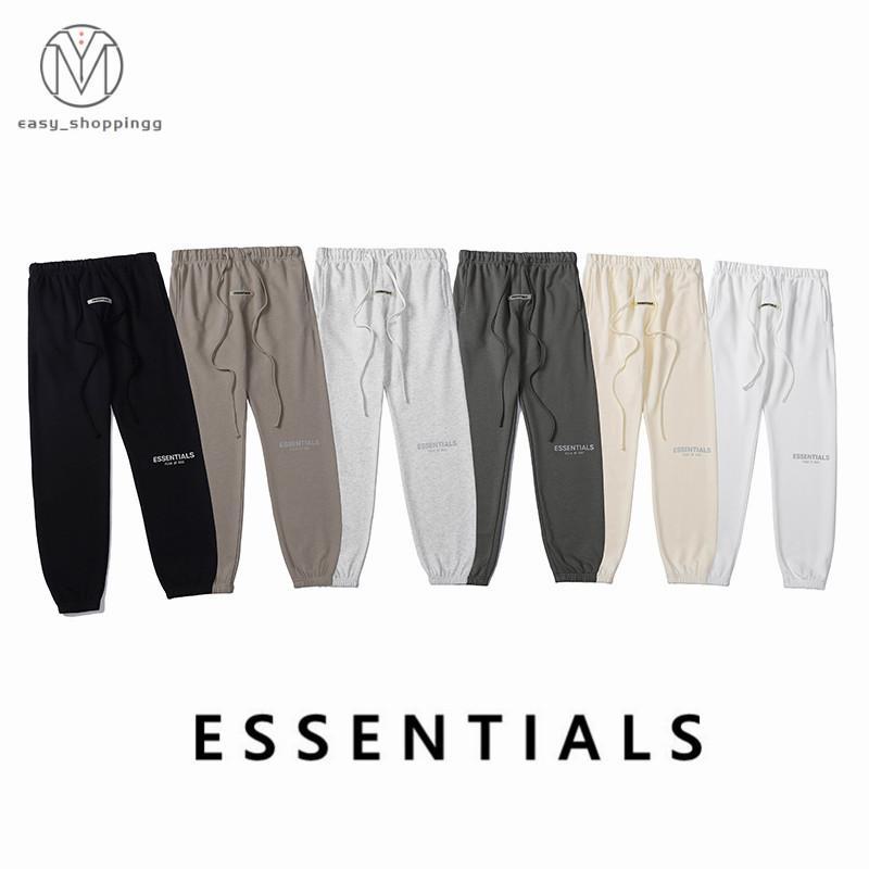 2021 Calças de pista 3M Logos reflexivos Calça de peso casual Designers Marcas Mens Womens Sport Streetwears
