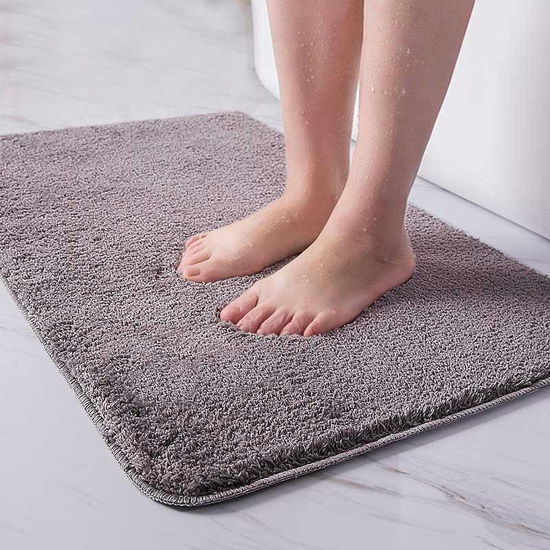 Alfombra de baño interior Conjunto antideslizante Abrador de suciedad absorbente rectángulo colinas de piso pies suave microfibra casa alfombra antideslizante alfombrilla de baño 210305