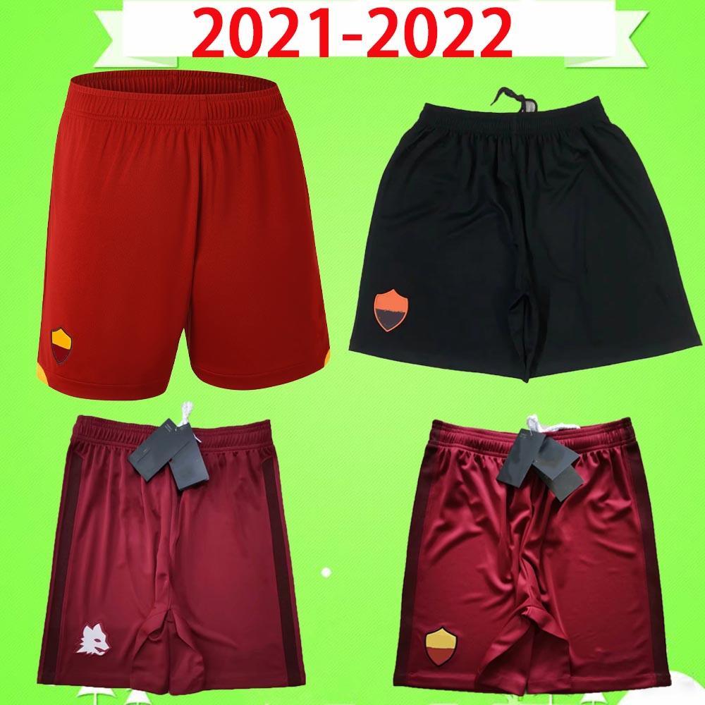 Rom 21 22 Roma Fußball Shorts Erwachsene Herren 2021 2022 Home Rot Away Dritter Vierter Fußballhose Zaniolo El Shaarawy Dzeko Kolarov Cristante Kluivert S-2XL