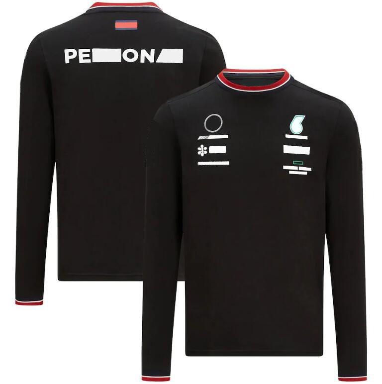 2021 Nuova T-shirt a maniche lunghe da corsa F1 Poliestere Asciugatura a maniche lunghe Polyester Spring e Autumn New Downhill Jersey con la stessa personalizzazione
