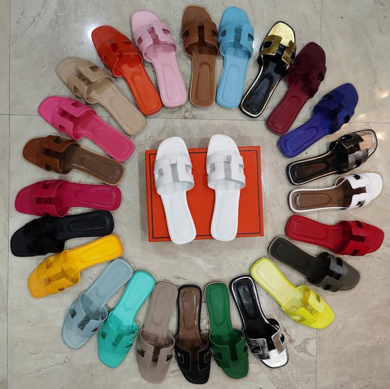 célèbre marque pantoufles de plage classique talon plat d'été designer de mode h flops cuir dame glisse femme chaussures sandales sexy sandales sexy grand taille