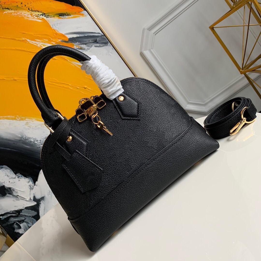 Лучшие роскоши Neo Alma Bb Empreinte сумка Shell Womens Crossbody сумочка сцепления тиснение воловья кожаные сумки на плечо ручки мессенджера